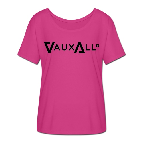VauxAll Logo | Black | Original - Women's Batwing-Sleeve T-Shirt by Bella + Canvas