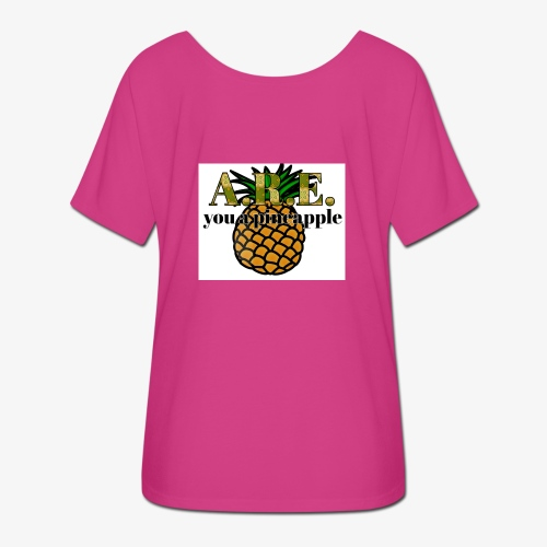 Are you a pineapple - Women's Batwing-Sleeve T-Shirt by Bella + Canvas