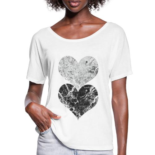hearts - Women's Batwing-Sleeve T-Shirt by Bella + Canvas