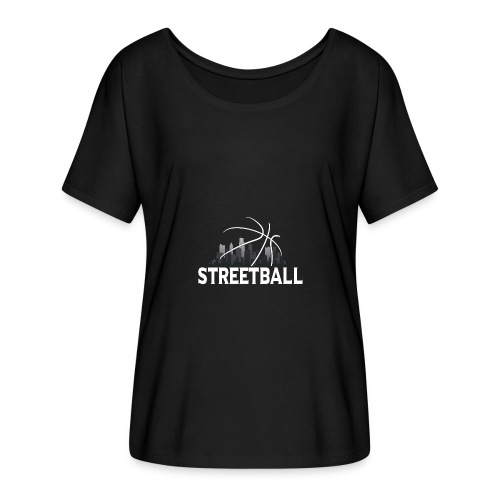 Streetball Skyline - Street basketball - Women's Batwing-Sleeve T-Shirt by Bella + Canvas