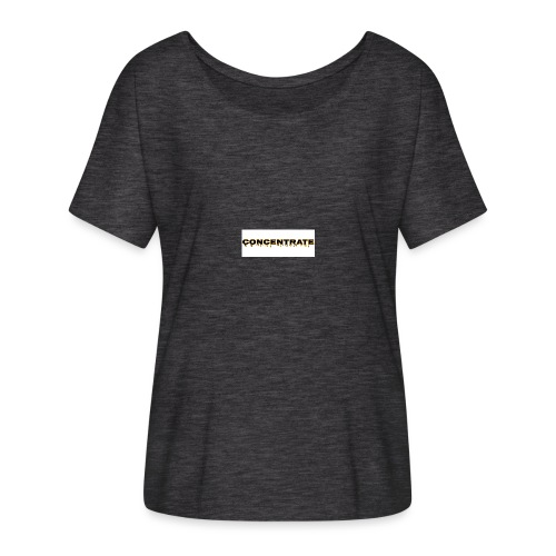 Concentrate on white - Women's Batwing-Sleeve T-Shirt by Bella + Canvas
