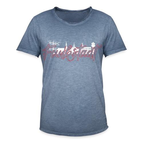 Funkstadt Nauen white / red - Männer Vintage T-Shirt