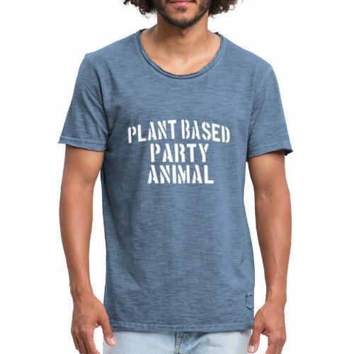 Plant Based Party Shirt Veganer T-Shirt Geschenk - Männer Vintage T-Shirt