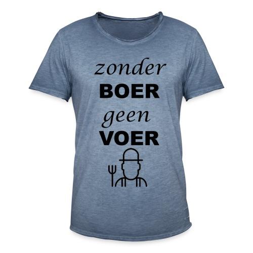 Zonder BOER geen VOER - Mannen Vintage T-shirt