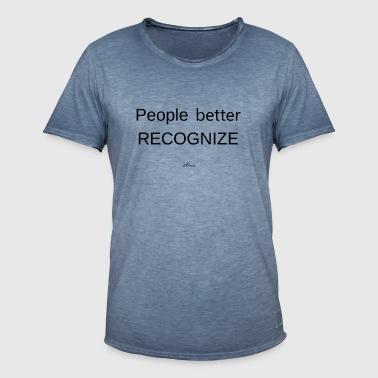 sldesign Collection - Vintage-T-skjorte for menn