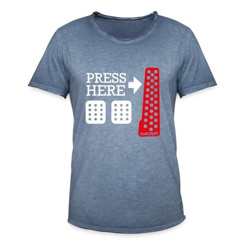 Press Here - T-shirt vintage Homme