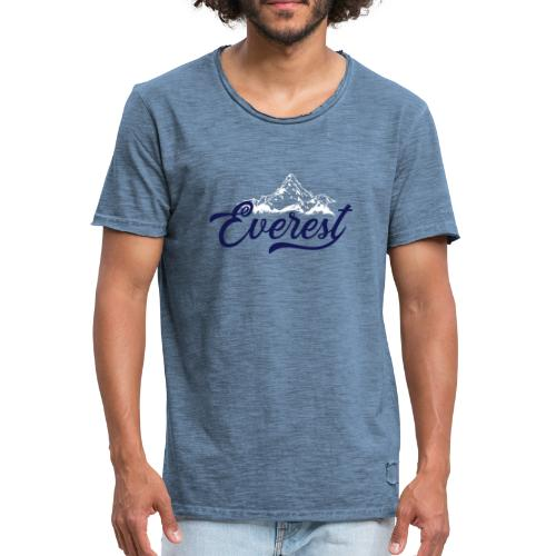 EVEREST script - Maglietta vintage da uomo
