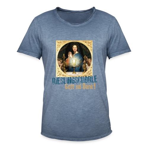 Rieslingschorle - Gott sei Dank! - Männer Vintage T-Shirt