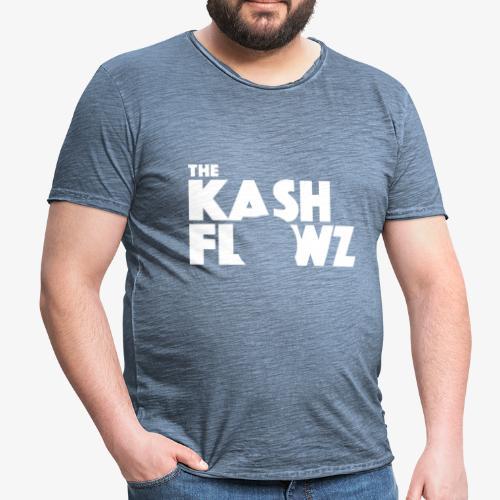 The Kash Flowz Official Logo White - T-shirt vintage Homme