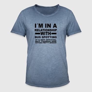 relationship with BUS SPOTTING - Men's Vintage T-Shirt