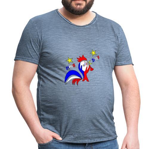 coupe du monde France 2018 football les bleus - T-shirt vintage Homme