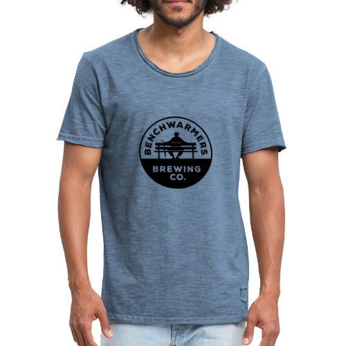 Benchwarmers Round Logo - Vintage-T-shirt herr