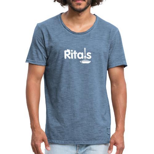 Logo Ritals bianco negativo - Maglietta vintage da uomo