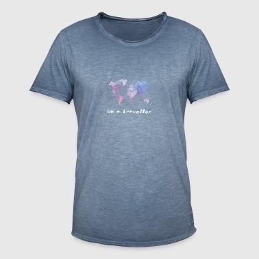 Jeg er en reisende - Vintage-T-skjorte for menn