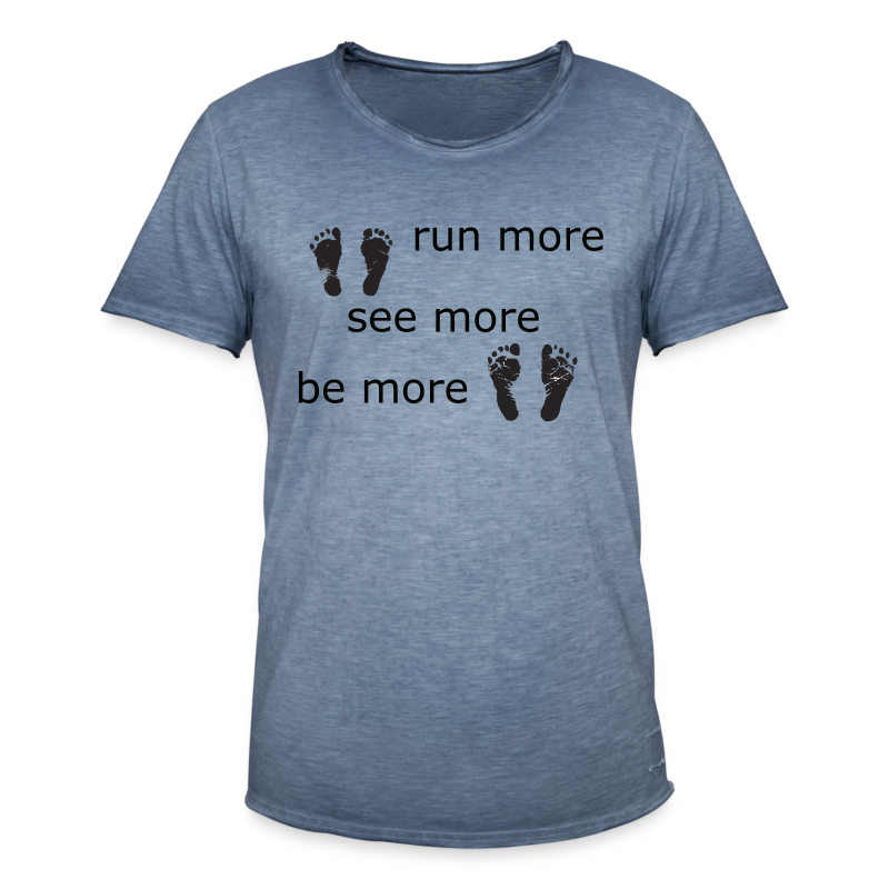 Run Collection - Vintage-T-skjorte for menn