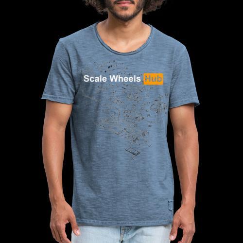 SCALE WHEELS HUB - Maglietta vintage da uomo