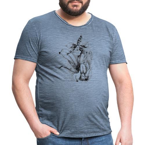 logo à fleur de lotus | cadeau pour ma famille - T-shirt vintage Homme