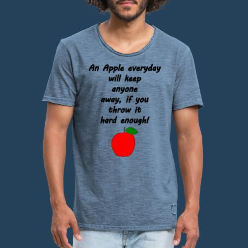 Apple Doctor - Männer Vintage T-Shirt