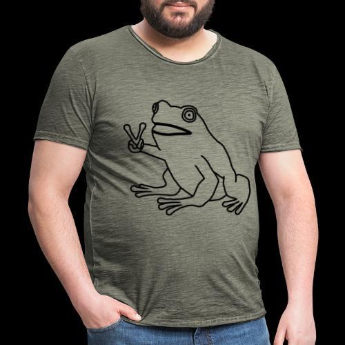Funny Animal Frog Frosch - Männer Vintage T-Shirt