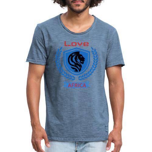love bleu - T-shirt vintage Homme