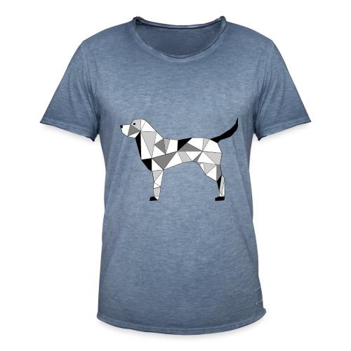 Hund illustriert - Männer Vintage T-Shirt