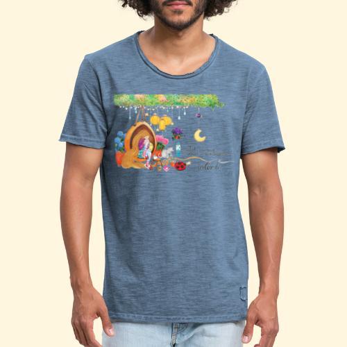 Tout à coup, le temps a considérablement ralenti - T-shirt vintage Homme