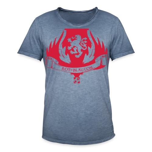 Rot-Blau.com Wappen - Männer Vintage T-Shirt