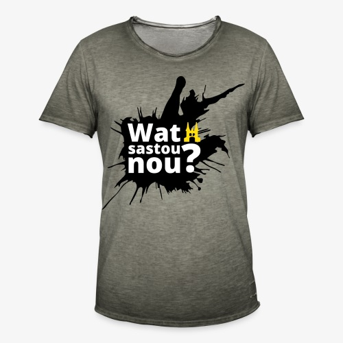 Wat sastou nou? - Mannen Vintage T-shirt