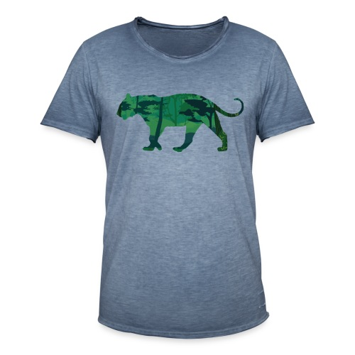 Tiger in the jungle... - T-shirt vintage Homme