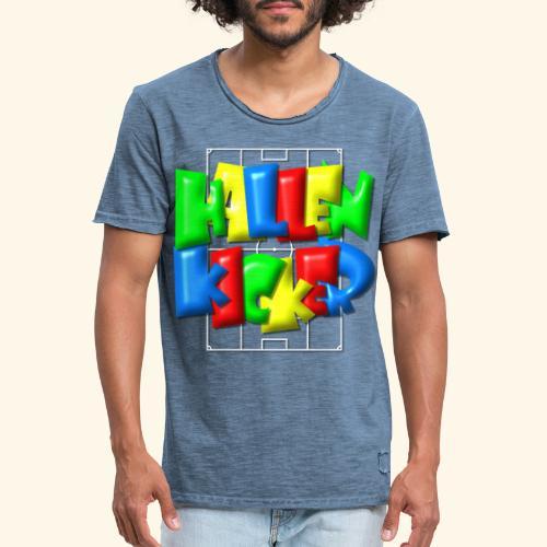 Hallenkicker im Fußballfeld - Balloon-Style - Männer Vintage T-Shirt