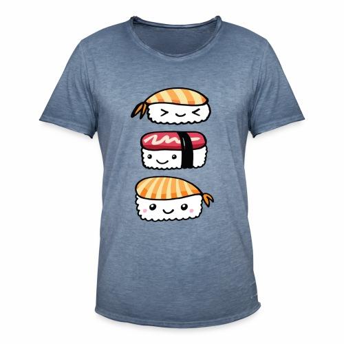 Sushis Kawaii - T-shirt vintage Homme