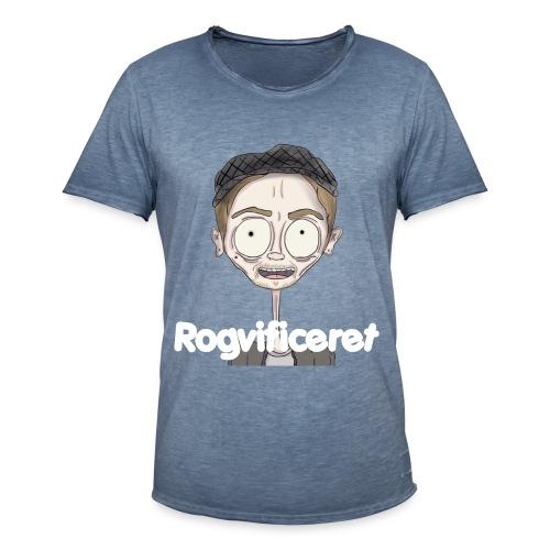 Rogvificeret Merch - Hvid tekst. - Herre vintage T-shirt