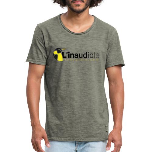 linaudible2020noir - T-shirt vintage Homme