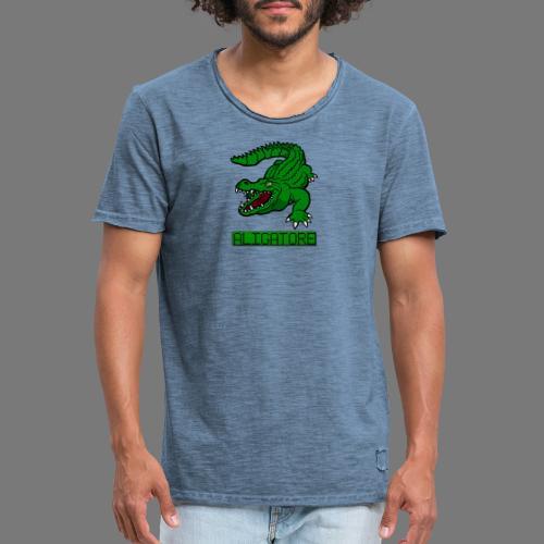 aligator - Koszulka męska vintage