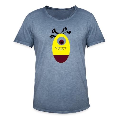 Gult æg - Herre vintage T-shirt