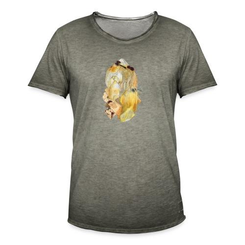 Bergkristall mit Granat - Männer Vintage T-Shirt