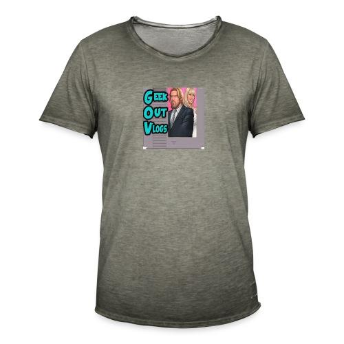 GeekOut Vlogs NES logo - Men's Vintage T-Shirt