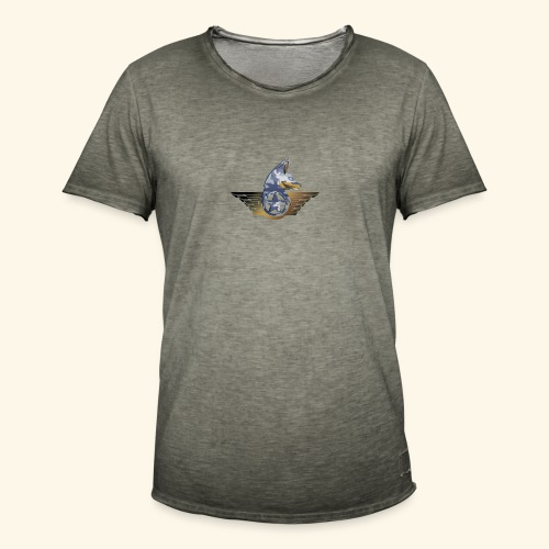 warrior fox - Maglietta vintage da uomo