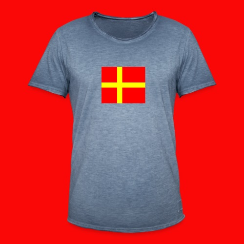 skanes flagga - Vintage-T-shirt herr