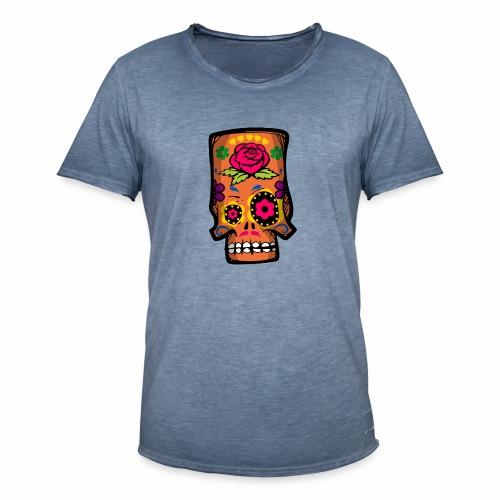 Calavera divertida - Camiseta vintage hombre