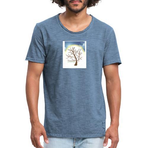 Baum mit Licht - Männer Vintage T-Shirt