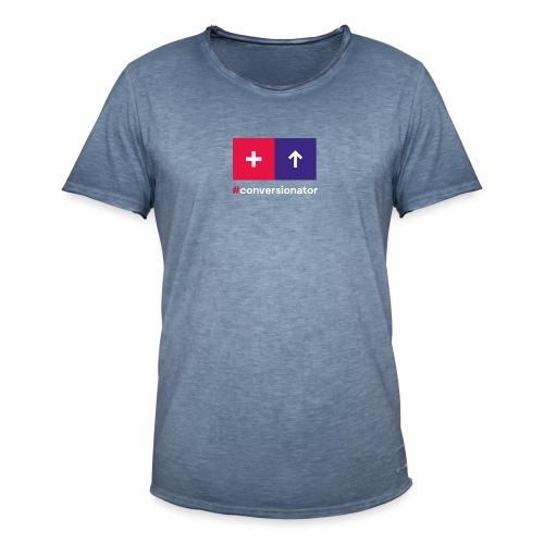 Conversionator mit Plus & Pfeil - Männer Vintage T-Shirt