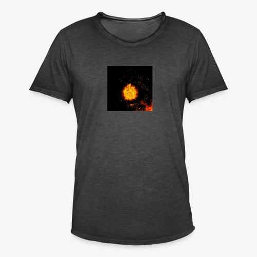 FIRE BEAST - Mannen Vintage T-shirt