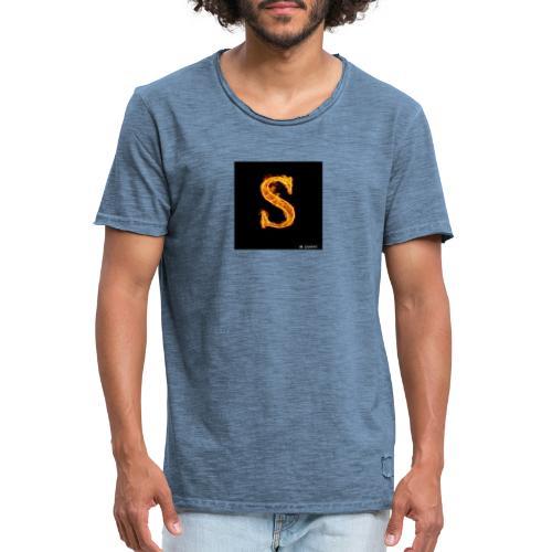 S - Vintage-T-skjorte for menn