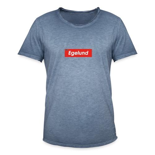 Albert Egelund Box Logo - Herre vintage T-shirt