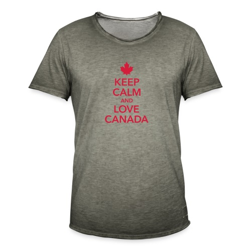 keep calm and love Canada Maple Leaf Kanada - Men's Vintage T-Shirt