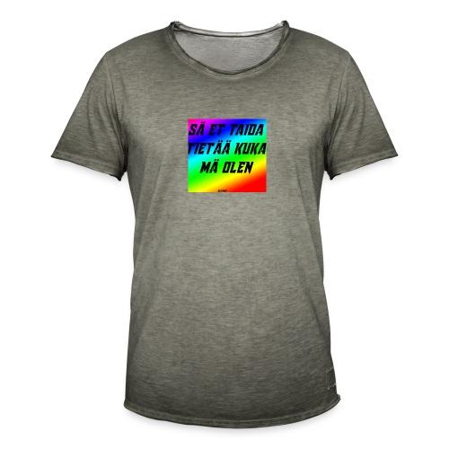 kuka olen - Miesten vintage t-paita