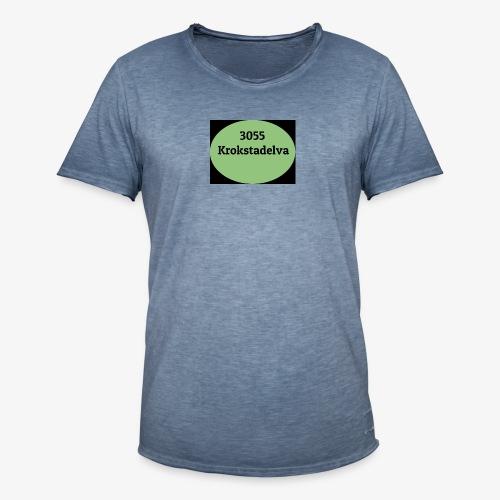 Krokstadelva - Vintage-T-skjorte for menn