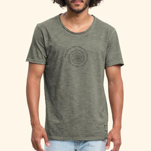 SPIRAL TEXT LOGO BLACK IMPRINT - Men's Vintage T-Shirt