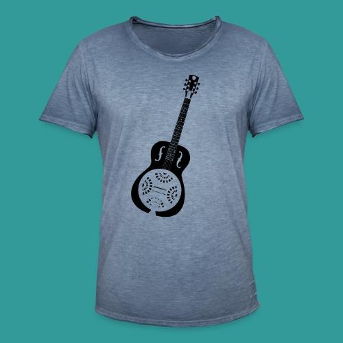 Blues Slide Guitar Stencil - Men's Vintage T-Shirt
